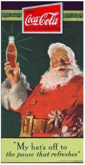 Santa Promotes Coca Cola